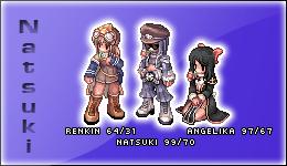 Renkin, Natsuki et Angelika